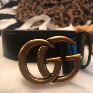 Gold Gucci Belt